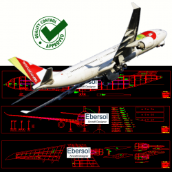 Airbus A330 - DXF - 2 x...