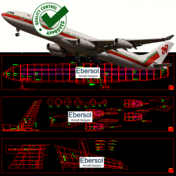 Airbus AC-A340 - DXF - 4 x...