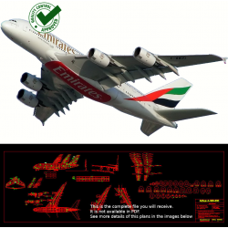 Airbus A-380-800 - DXF - 4...