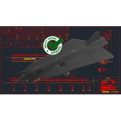 D-21 Drone for SR-71 - DXF...