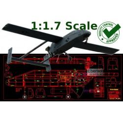 RQ-2A Pioneer - 122in - DXF...
