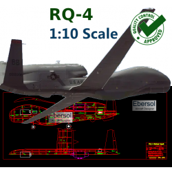 RQ-4 Global Hawk - DXF -...